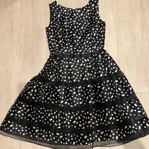 Taylor Black and White Polka Dot Dress Size 0-2